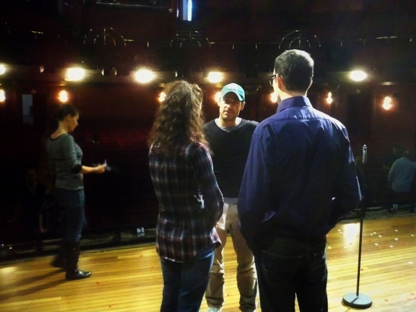 Director Alex Balga in rehearsal with Pia Douwes and Thomas Borchert