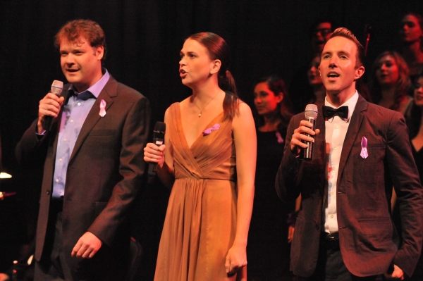 Stephen Tewksbury, Sutton Foster, and Paul Canaan at BROADWAY MEMORIES Fundraiser