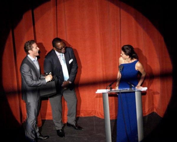 Matthew Morrison, Randy Jackson and Teri Hatcher