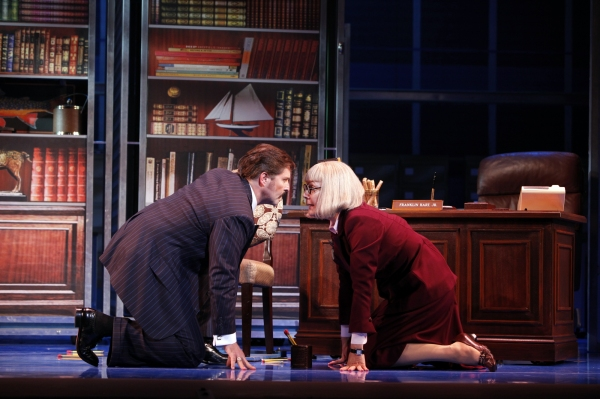 Joseph Mahowald as Franklin Hart, Jr. and Kristine Zbornik as Roz Keith  at 9 to 5: The Musical on Tour!