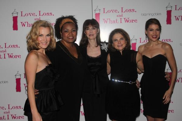 Erin Dilly, Aisha de Haas, Barbara Feldon, Tovah Feldshuh and Ashley Austin Morris