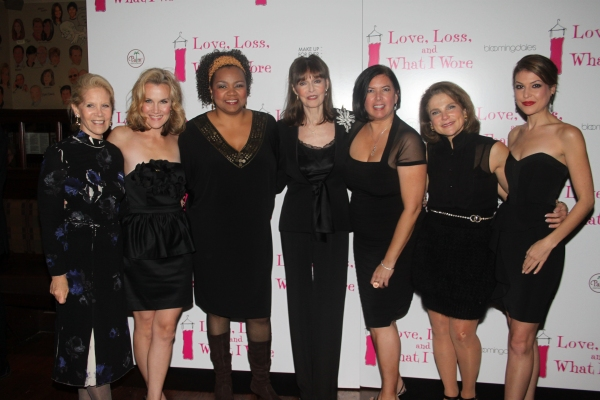 Daryl Roth, Erin Dilly, Aisha de Haas, Barbara Feldon, Karen Carpenter, Tovah Feldshuh and Ashley Austin Morris