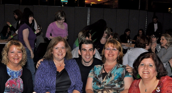 Joan Gute, Sue Kron, Declan O'Donoghue, Lynette Terjesen and Mag Paolini
