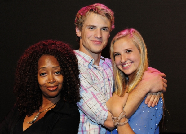 Jennifer Leigh Warren (as Fairy Godmother), Freddie Stroma (as Prince Charming), & Veronica Dunne (as Cinderella)