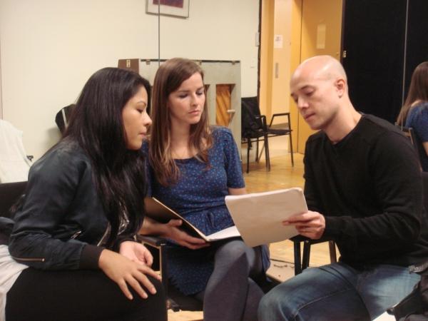 Emerita Alcid, Kristen Howard and Joel Trinidad