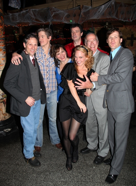Stephen Hope, Zach Wegner, Rita Rehn, Frank Blocker, Lori Gardner, John-Charles Kelly & Graham Stuart Allen at THE DEEP THROAT SEX SCANDAL Opening Night