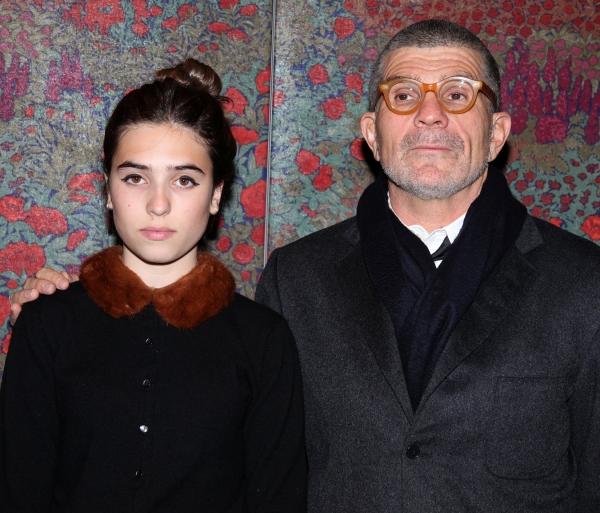 Clara Mamet and David Mamet