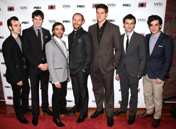 Actors James Barry, Benjamin Walker, Ben Steinfeld, Joe Jung, Heath Calvert, Eli James and Justin Levine