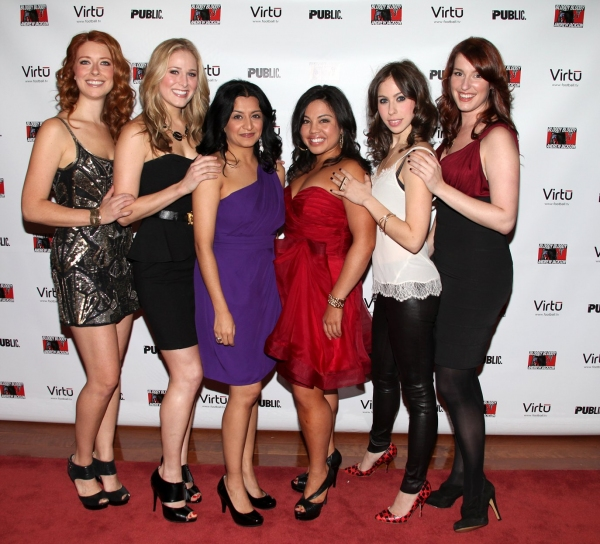 Nadia Quinn, Kate Cullen Roberts, Maria Elena Ramirez, Maria-Christina Oliveras, Emily Young and Erin Felgar at BLOODY BLOODY ANDREW JACKSON After Party
