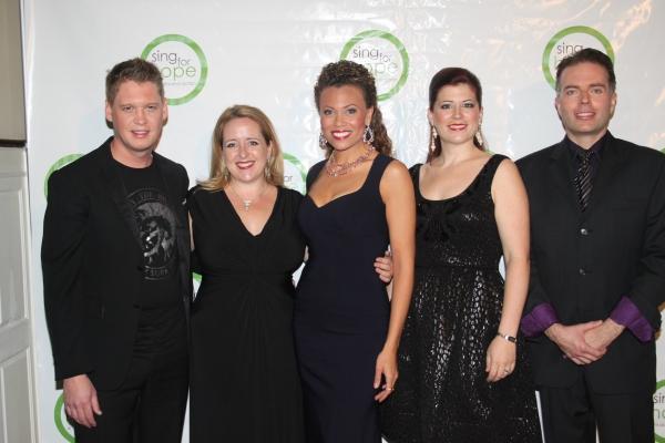 Michael Slattery, Jennifer Aylmer, Alyson Cambridge, Blythe Gaissert  at 2010 Sing for Hope Gala
