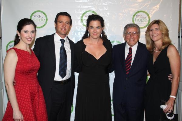 Camille Zamora, Nathan Gunn, Julie Gunn, Tony Bennett and Susan Benedetto
