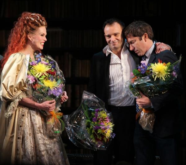 Joanna Lumley, Matthew Warchus and David Hirson