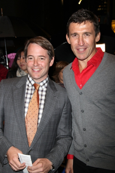 Matthew Broderick and Jonathan Cake at LA BETE Opening Night Arrivals