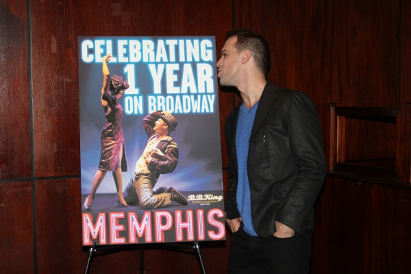 Brad Bass at MEMPHIS Celebrates One Year on Broadway!
