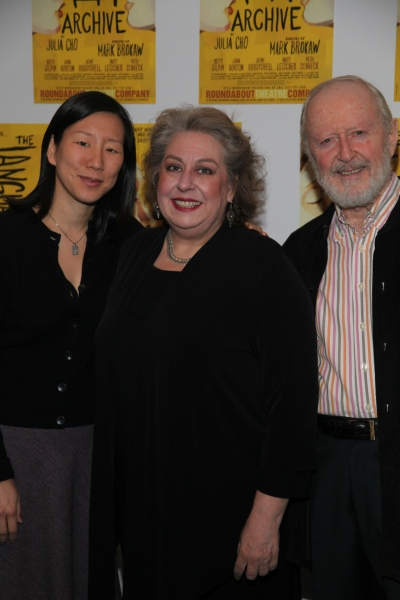 Julia Cho, Jayne Houdyshell and John Horton at The Language Archive Opens at Roundabout
