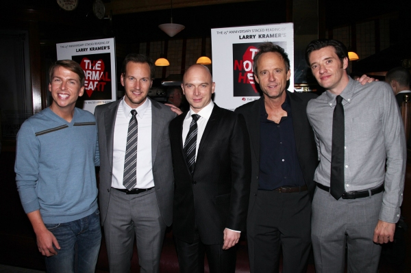 Jack McBrayer, Patrick Wilson, Michael Cerveris, Josh Benjamin Hickey and Jason Butler Harner at THE NORMAL HEART After Party