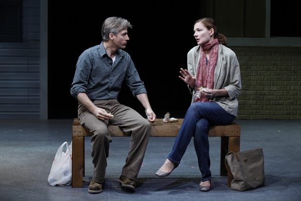 Linus Roache & Heather Burns at MIDDLETOWN at Vineyard Theatre