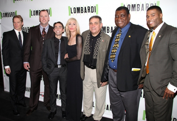 Bill Dawes, Christopher Sullivan, Keith Nobbs, Judith Light, Dan Lauria, Dave Robinson and Robert Christopher Riley at LOMBARDI Opening Night Party