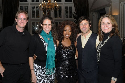 Brian Bratt, Anne Miller, Jennifer Leigh Warren, Brett Ryback and Shannon Forsell at The Cabaret at the Columbia Club