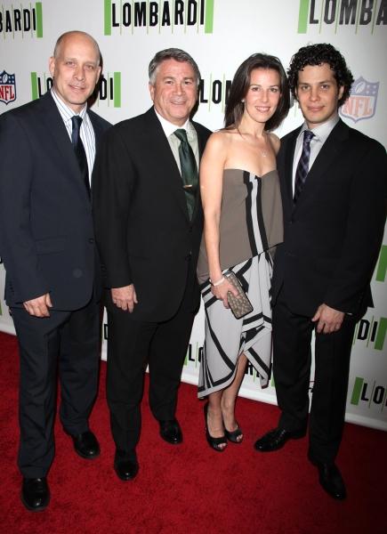 Eric Simonson, Tony Pontaro, Fran Kirmser and Thomas Kail Photo