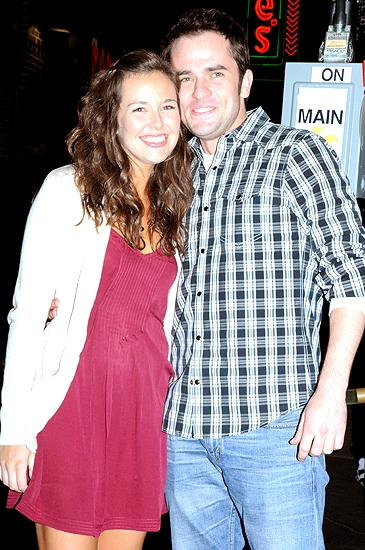 Liana Hunt & Corey Greenan at MAMMA MIA! Celebrates 10th Anniversary on Broadway