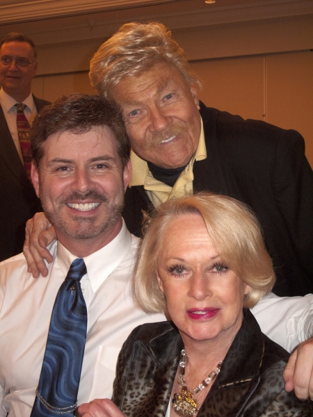 Harlan Boll, with Rip Taylor and Tippi Hedren Photo