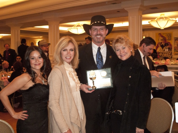 Romi Dames, Donna Mills, Harlan Boll, Dee Wallace at B. Harlan Boll Honored at Golden Halo Awards