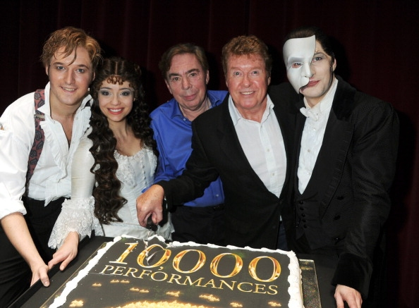 Will Barratt, Sofia Escobar, Andrew Lloyd Webber, Michael Crawford and Stephen John D Photo