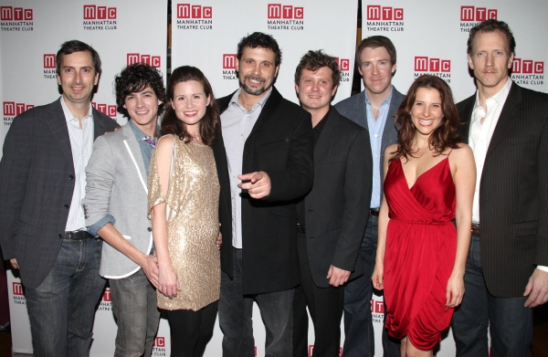 Henry Wishcamper, Aaron Michael Davies, Maggie Lacey, Jeremy Sisto, Beau Willimon, Brian Hutchinson, Mia Barron & Charles Borland at MTC Opens SPIRIT CONTROL