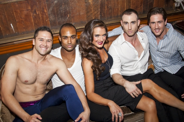 Whitney Osentoski, Joe Aaron Reid, Brooke Shields, Ven Daniel and Adam Hart Photo