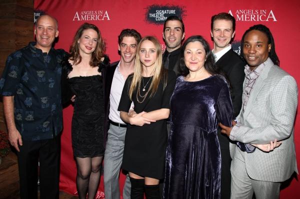 Frank Wood, Robin Weigert, Christian Borle, Zoe Kazan, Zachary Quinto, Robin Bartlett Photo