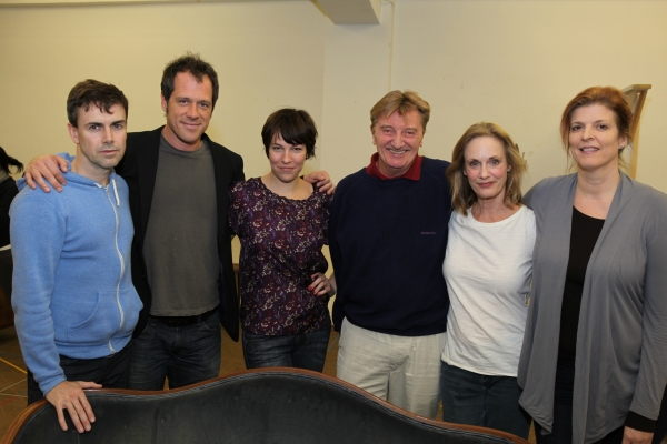 Matt McGrath, Darren Pettie, Rebecca Henderson, Larry Bryggman, Lisa Emery and Karen Kohlhaas  at THE COLLECTION & A KIND OF ALASKA in Rehearsal