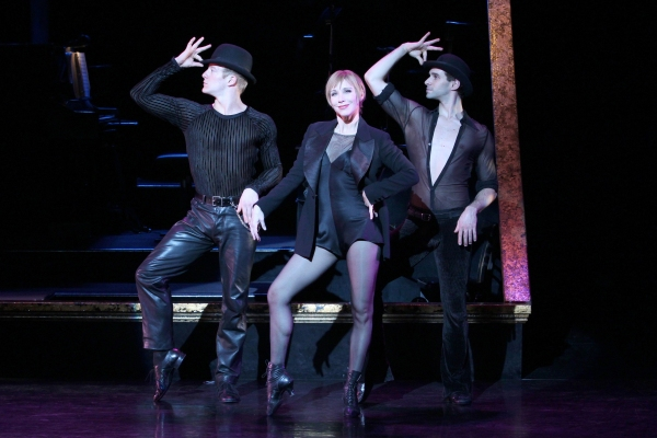 Ryan Worsing, Charlotte d'Amboise and Michael Cusumano at CHICAGO Celebrates 14 Years on B'way, 11/14