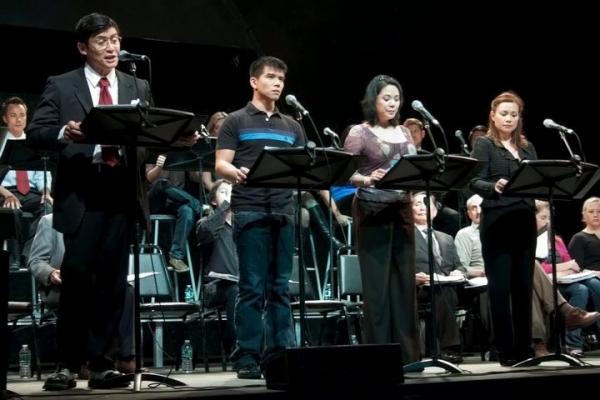 Paolo Montalban, Telly Leung, Christine Toy Johnson, Lea Salonga Photo