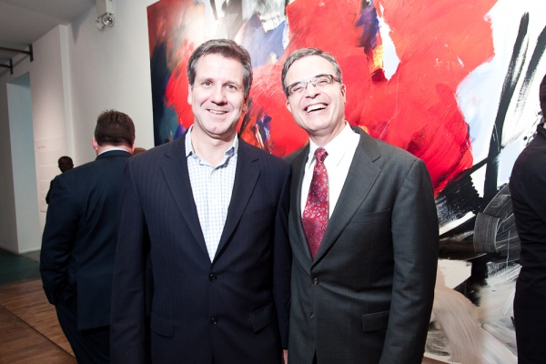David Bennett and Neal Goren at New American Opera DARK SISTERS Hosts Reception, 10/28