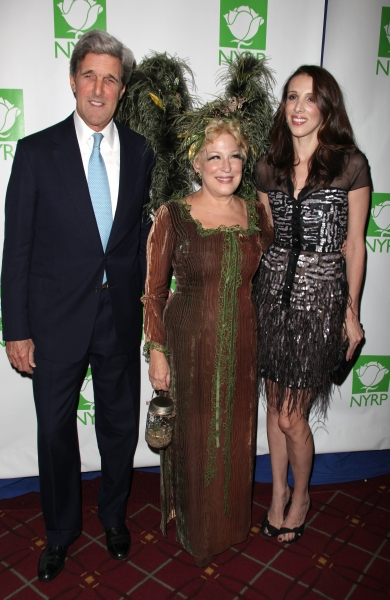 John Kerry, Bette Midler & Alexandra Kerry