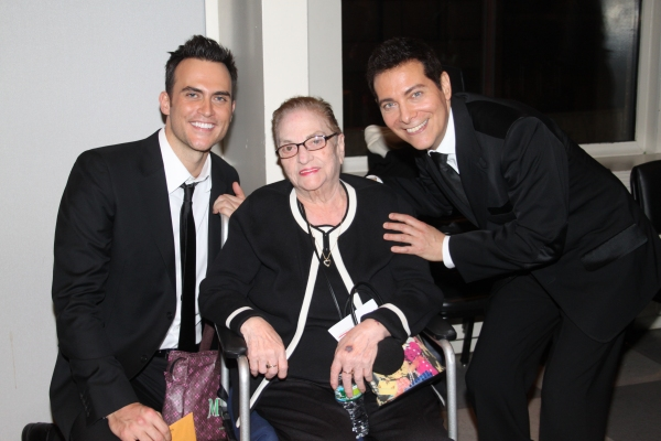 Cheyenne Jackson, Jo Jo Lenzi and Michael Feinstein Photo
