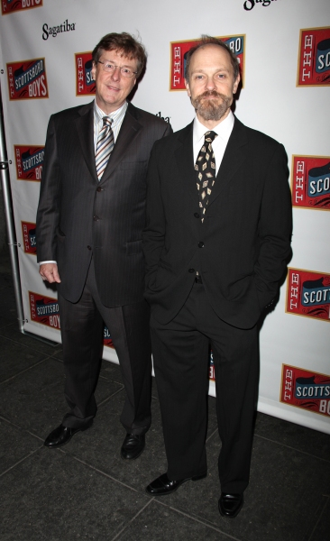 Brian Hargrove and his husband David Hyde Pierce at THE SCOTTSBORO BOYS Red Carpet