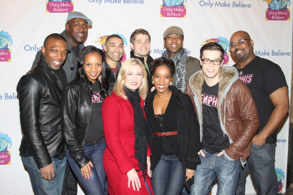 Tyrone A. Jackson, John Eric Parker, Candice Monet McCall, Sam J. Cahn, Jill Morrison, Andy Mills, Tanya Birl, Jermaine Rembert, Paul McGill and James Monroe Iglehart at McKellen, Lucas and More at Only Make Believe's 11th Anniversary Gala
