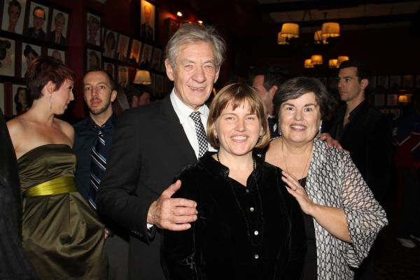 Laura Armitage, Sir Ian McKellen and Lee Armitage Photo