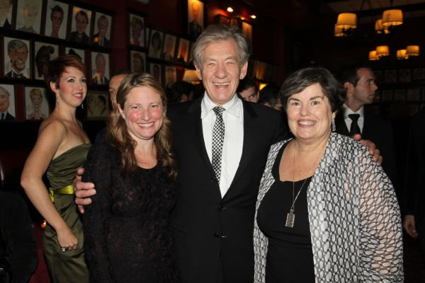 Cathy Lasry, Sir Ian McKellen and Laura Armitage
