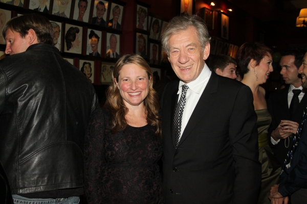 Cathy Lasry and Sir Ian McKellen