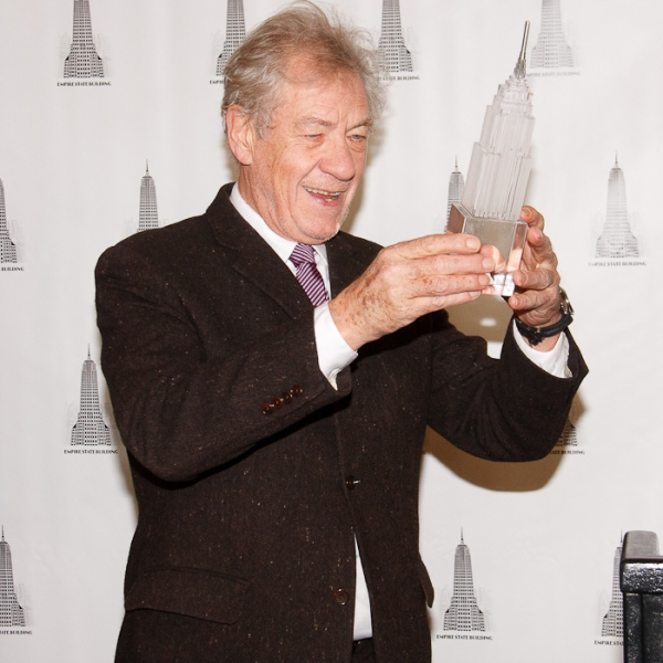 Photo Coverage: Ian McKellen Lights Up the Empire State Building for Only Make Believe