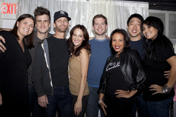 Jenny Kanelos, Gavin Creel, Jarrod Emick, Sarah Darling, Rory O'Malley, Shayna Steele, Raymond J. Lee and Anne Fraser Thomas