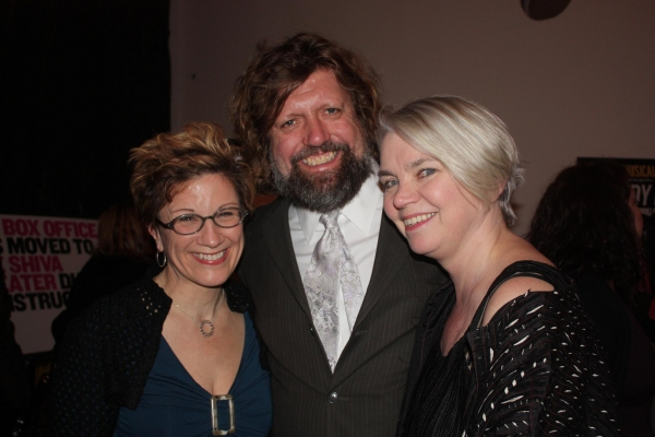 Lisa Kron, Oskar Eustis, and Susan Hilferty at Opening Night of IN THE WAKE At The Public Theater