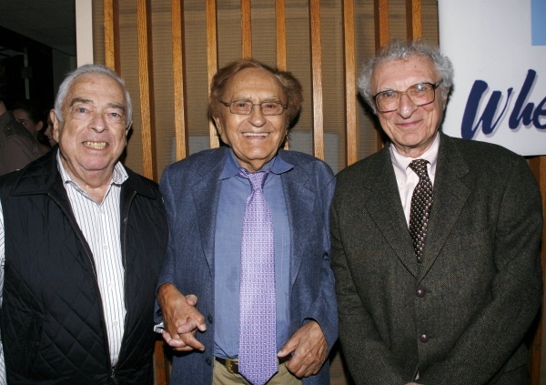 "Jerry Bock, Joseph Stein & Sheldon Harnick  attend the Opening Night of ""enter laughing""   9/10/2008"