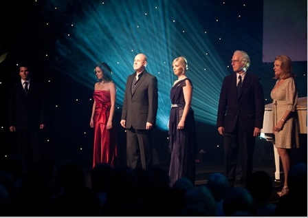 Martin Crewes, Lucy Maunder, Anthony Warlow, Taneel Van Zyl, Peter Carroll and Trisha Photo