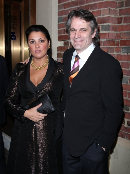 Bartlett Sher and Anna Netrebko at WOMEN ON A VERGE OF A NERVOUS BREAKDOWN Arrivals
