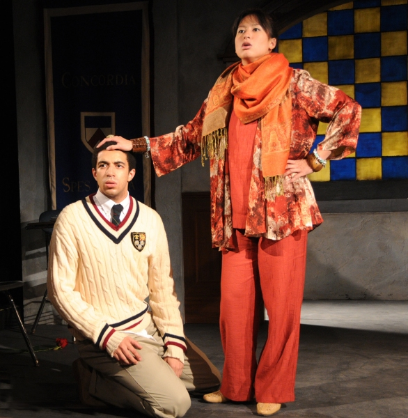 Kobi Libii and Marie-France Arcilla at PERFECT HARMONY Finds New Home at Acorn Theatre