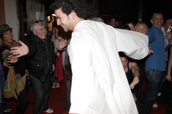 Julio Agustin (Gypsy Robe Recepient) with de'Adre Aziza, Pedro Almodovar, Brian Stokes Mitchell & cast